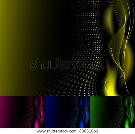 Abstract background, available in 4 colors. - stock vector