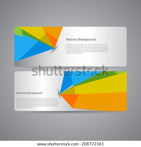 Abstract background banners set. - stock vector