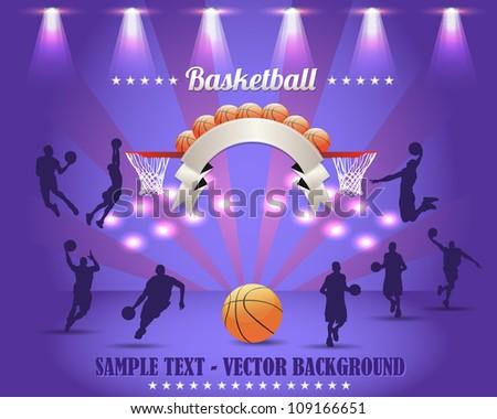 Abstract Background Basketball Vector Design - stock vector