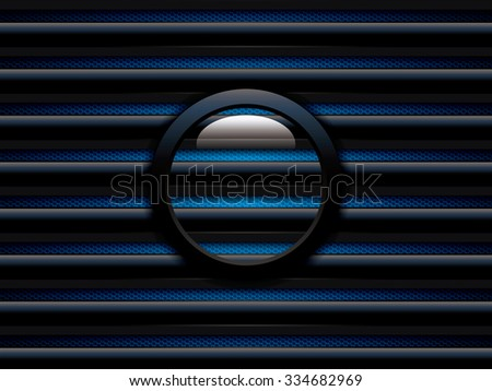Abstract background, blue brochure, vector - stock vector