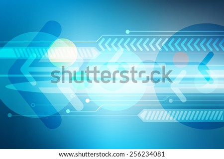 abstract background blue digital arrow technology, vectors illustration - stock vector
