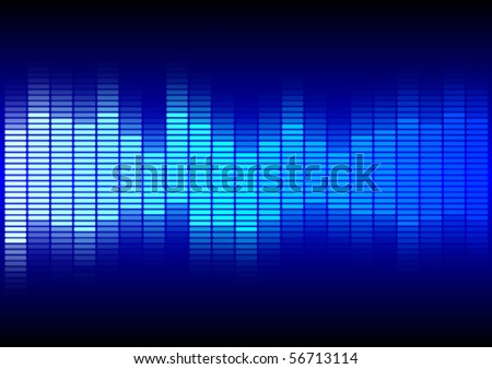 Abstract Background - Blue Equalizer - stock vector