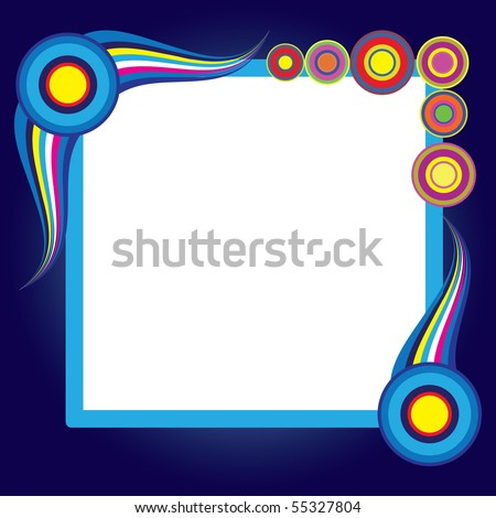 Abstract background. Blue set. Simply change. Vector illustration. - stock vector