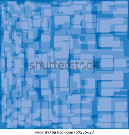 Abstract background. Blue set. Vector illustration. - stock vector