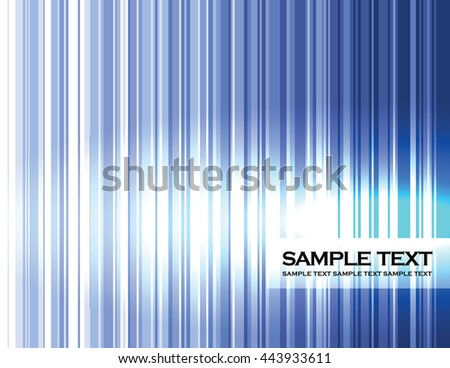 Abstract Background. Blue Shiny Stripes. - stock vector