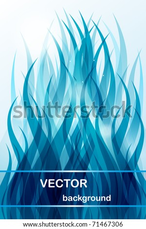 Abstract background - blue wave - stock vector