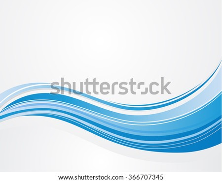 abstract background blue wave pattern design - stock vector