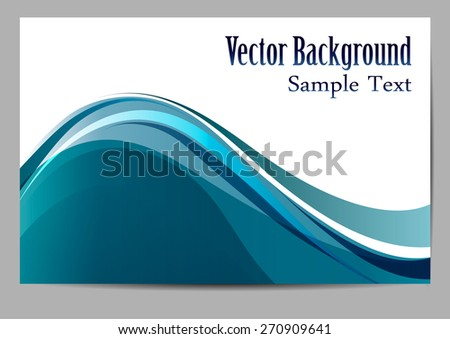 Abstract background. Blue waves. vector - stock vector