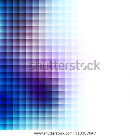 Abstract Background. Blurred Image and tile geometric elements. - stock vector