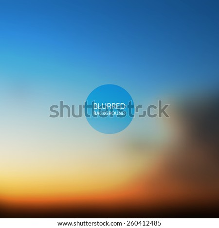 Abstract Background - Blurred Image - Sunset in Australia - stock vector