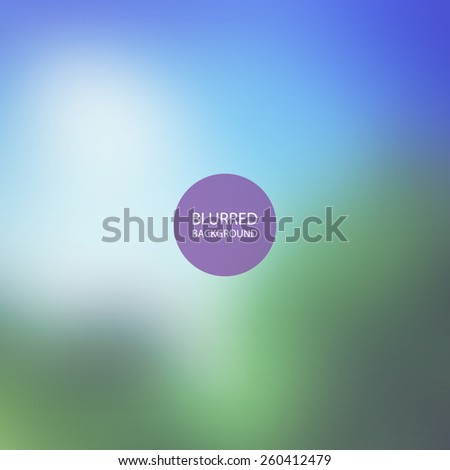 Abstract Background - Blurred Image - Trees and Sky - stock vector