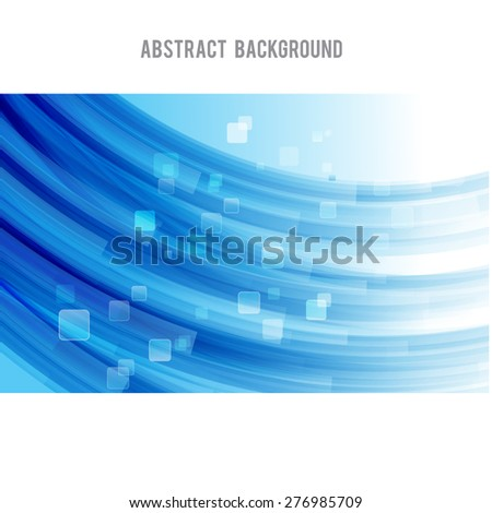 Abstract background bright and light curve blue, vector illustration eps10 - stock vector