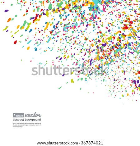 Abstract background - bright spots of paint. A vector.