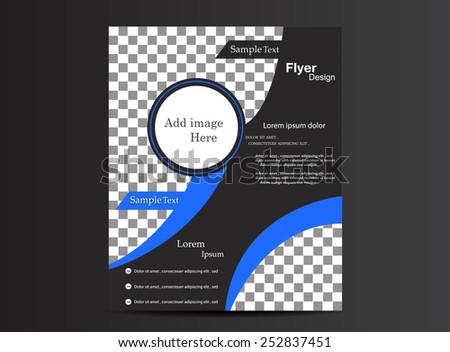 Abstract Background Brochure - stock vector