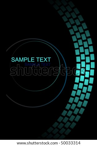 abstract background, circle,  illustration - stock vector