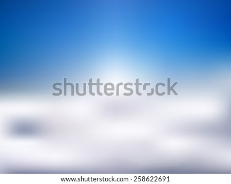 Abstract background cloud sky blue color. Vectors design illustration - stock vector
