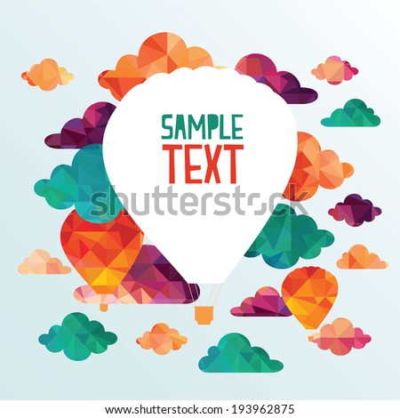 Abstract background. Clouds and balloons - stock vector