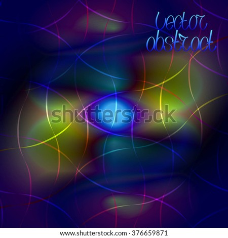 Abstract Background. Colorful Pattern. Curve Structure Texture. Vector Illustration