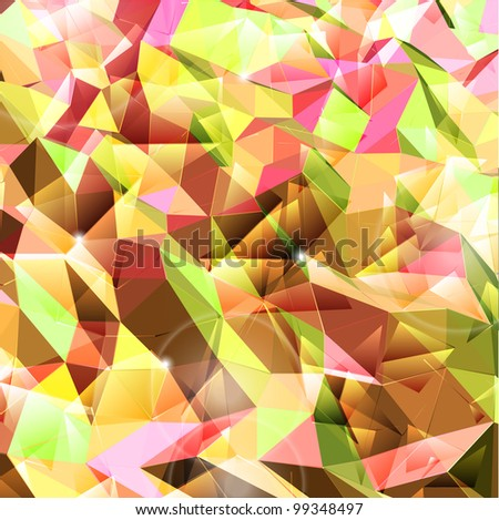 Abstract background. Combination of triangle. Vector