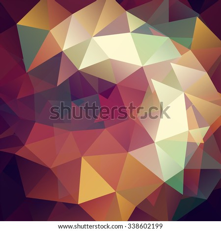 abstract background consisting of brown, beige triangles, vector illustration
