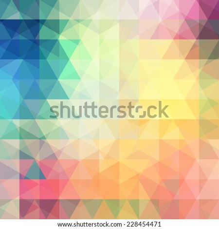abstract background consisting of colorful triangles