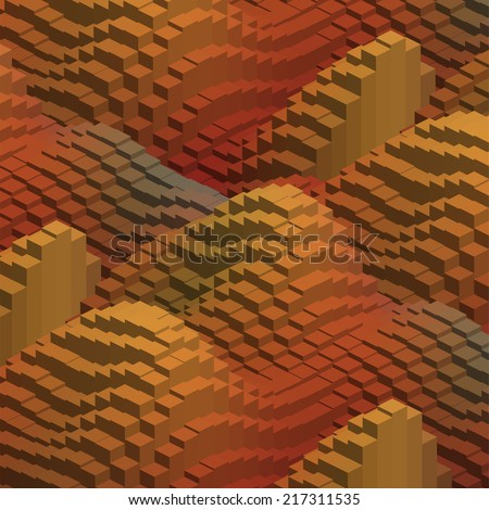 abstract background consisting of geometrical shapes - stock vector