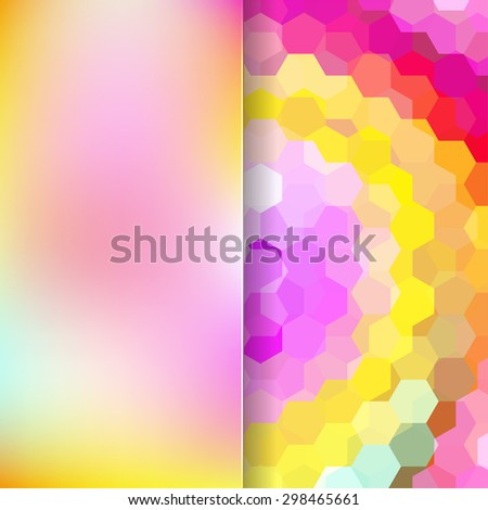 abstract background consisting of hexagons