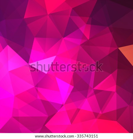 abstract background consisting of pink triangles, vector illustration - stock vector