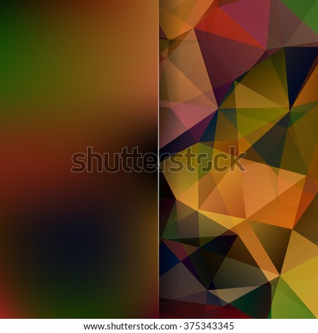 Abstract background consisting of triangles. Geometric design for business presentations or web template banner flyer. Vector illustration. Brown color.  - stock vector