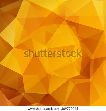 abstract background consisting of yellow orange triangles, vector illustration - stock vector
