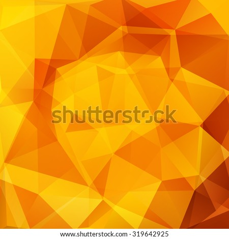 abstract background consisting of yellow, orange triangles, vector illustration - stock vector