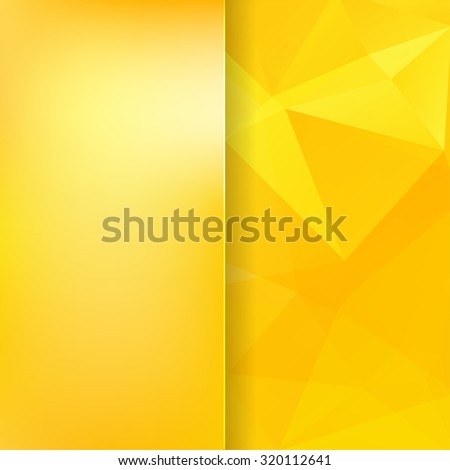 abstract background consisting of yellow triangles and matt  glass, vector illustration - stock vector
