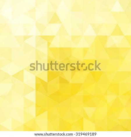 abstract background consisting of yellow triangles, vector illustration - stock vector