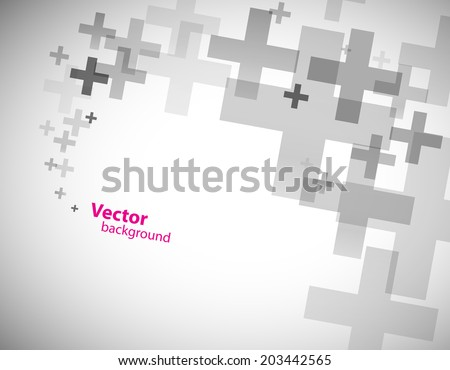 Abstract background created with plus sign. - stock vector