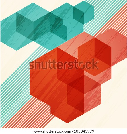 Abstract background. Cubism - stock vector