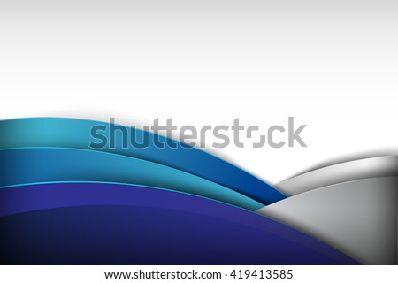 Abstract background curve and overlap layer illustration blue eps10  - stock vector