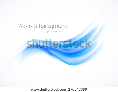 Abstract background design in blue wave style - stock vector