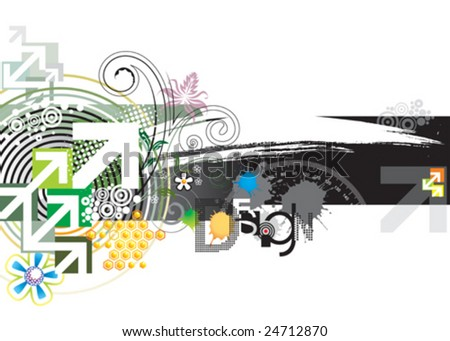 Abstract background design, vector layered. - stock vector