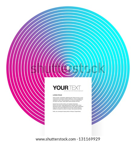 Abstract background design vector with square text box - stock vector