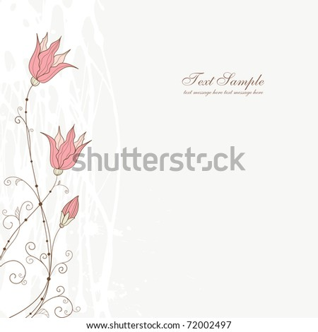 abstract background design with flowers, vector - stock vector
