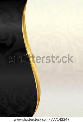 abstract background divided into two with plant motif