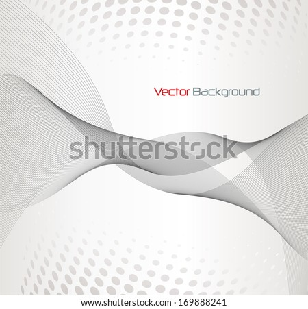 Abstract background elegant fantasy lines, vector illustration. - stock vector