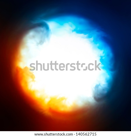 Abstract background, explosion in the sky, vector illustration. - stock vector