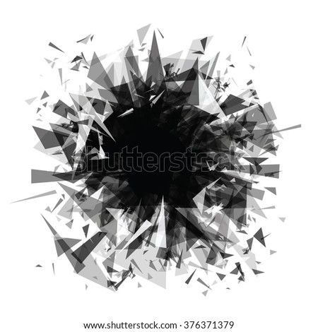 abstract background explosion (triangles)
