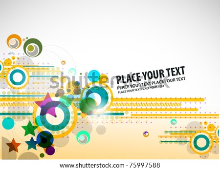 Abstract Background, fantasy vector illustration - stock vector