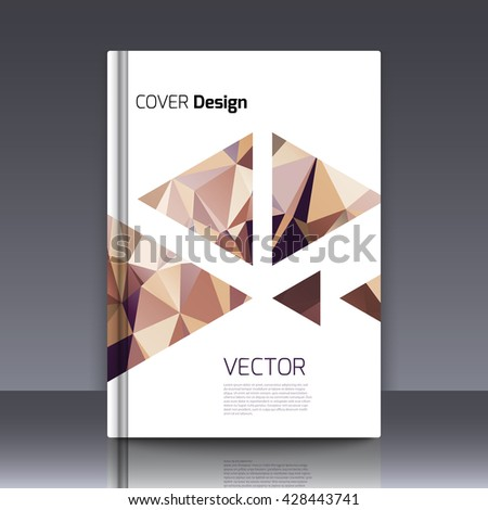 Abstract background for booklet. Abstract Background with triangles. Colorful triangles. Abstract triangles. Abstract geometry. Abstract background for covers and banners. Banner and cover for booklet - stock vector