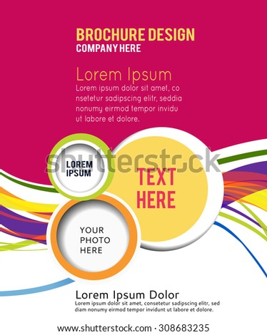 Abstract background for design - Illustration business poster, magazine cover, design layout template - stock vector