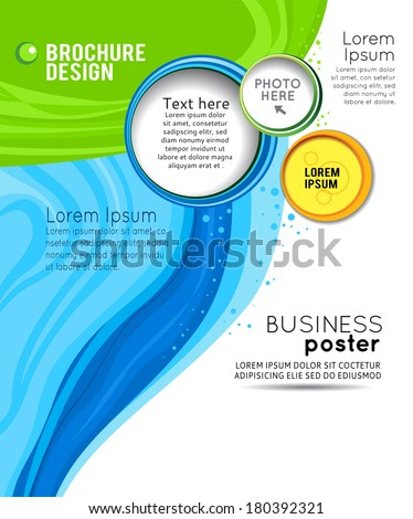Abstract background for design - stock Illustration business poster, magazine cover, design layout template