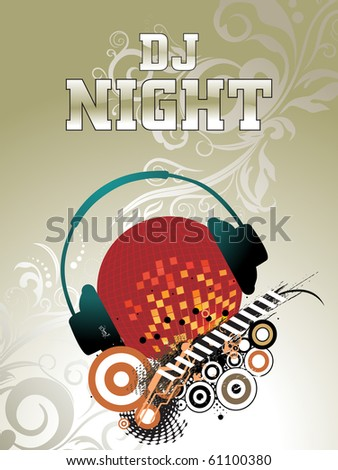 abstract background for music, vector illustration - stock vector