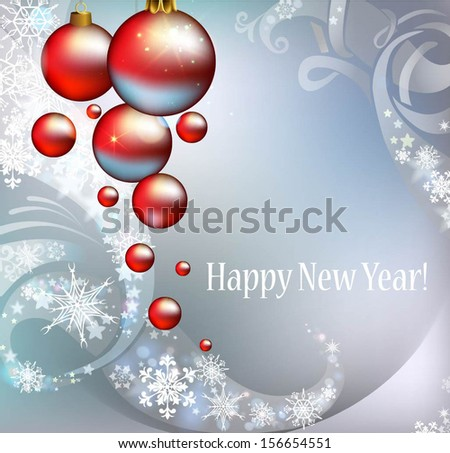 Abstract background for New Year greetings - stock vector